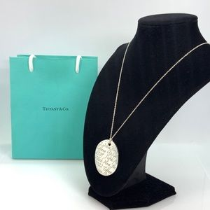 """Tiffany & Co. XL Notes Round Pendant Necklace 18"""""""
